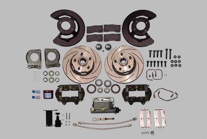 Ford Kelsey-Hayes Type 4 Piston Caliper Manual Disc Brake Kit V8 - Manual  or Power Steering - Manual or Auto Transmission ( 1967-1969)