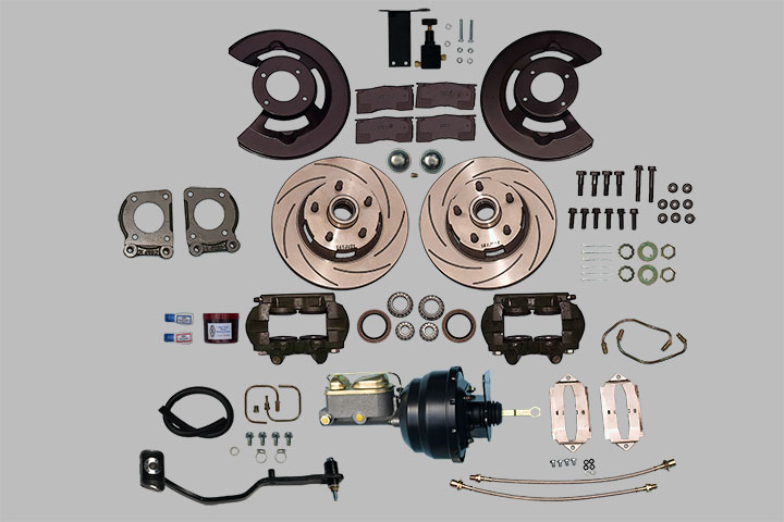 Ford Kelsey-Hayes Type 4 Piston Caliper Power Disc Brake Kit V8 - Manual or  Power Steering with Manual Transmission (1967 1969)