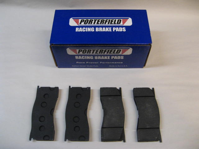 Porterfield R4 Road Racing Disc Brake Pads for 4 Piston Lincoln Calipers  (1965-1967) Mustang